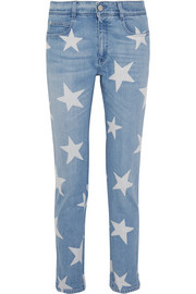 Stella McCartney The Skinny printed boyfriend jeans