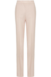 Stella McCartney Anna pleated wool-canvas straight-leg pants
