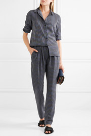 Stella McCartney Christine printed silk crepe de chine track pants