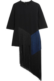 Stella McCartney Edith two-tone fringed crepe top
