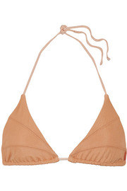Aries stretch-mesh bikini top