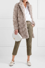Stella McCartney Toti mohair, cotton and wool-blend faux shearling coat