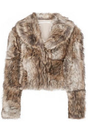 Stella McCartney Masha cropped faux fur coat