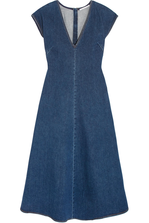 Stella McCartney Ella stretch-denim midi dress