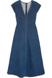 Ella stretch-denim midi dress
