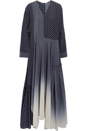 Stella McCartney Dominique oversized silk crepe de chine maxi dress