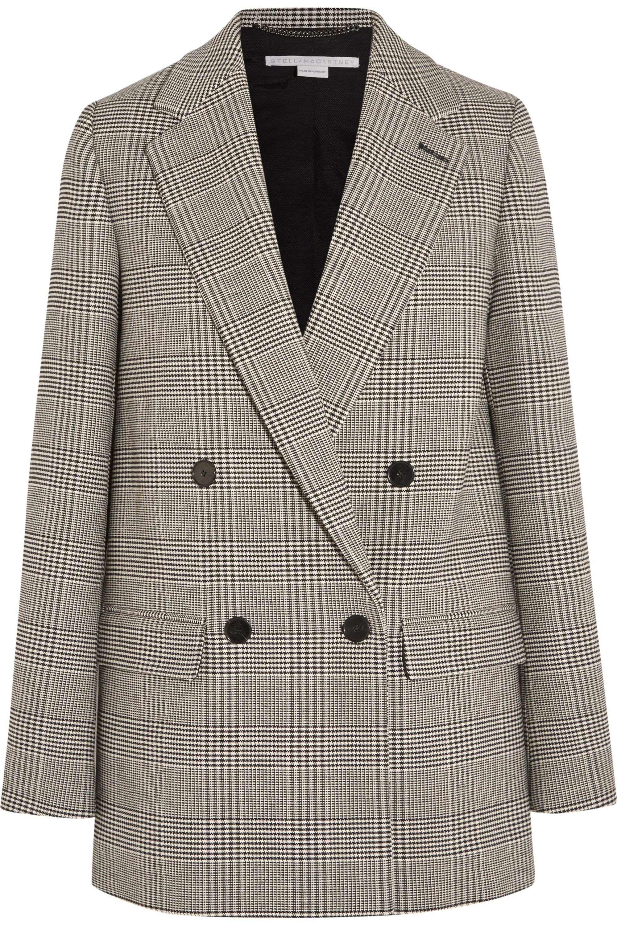 Stella McCartney Milly Prince of Wales checked wool-blend blazer