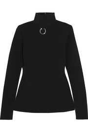 Stella McCartney Embellished stretch-knit turtleneck sweater