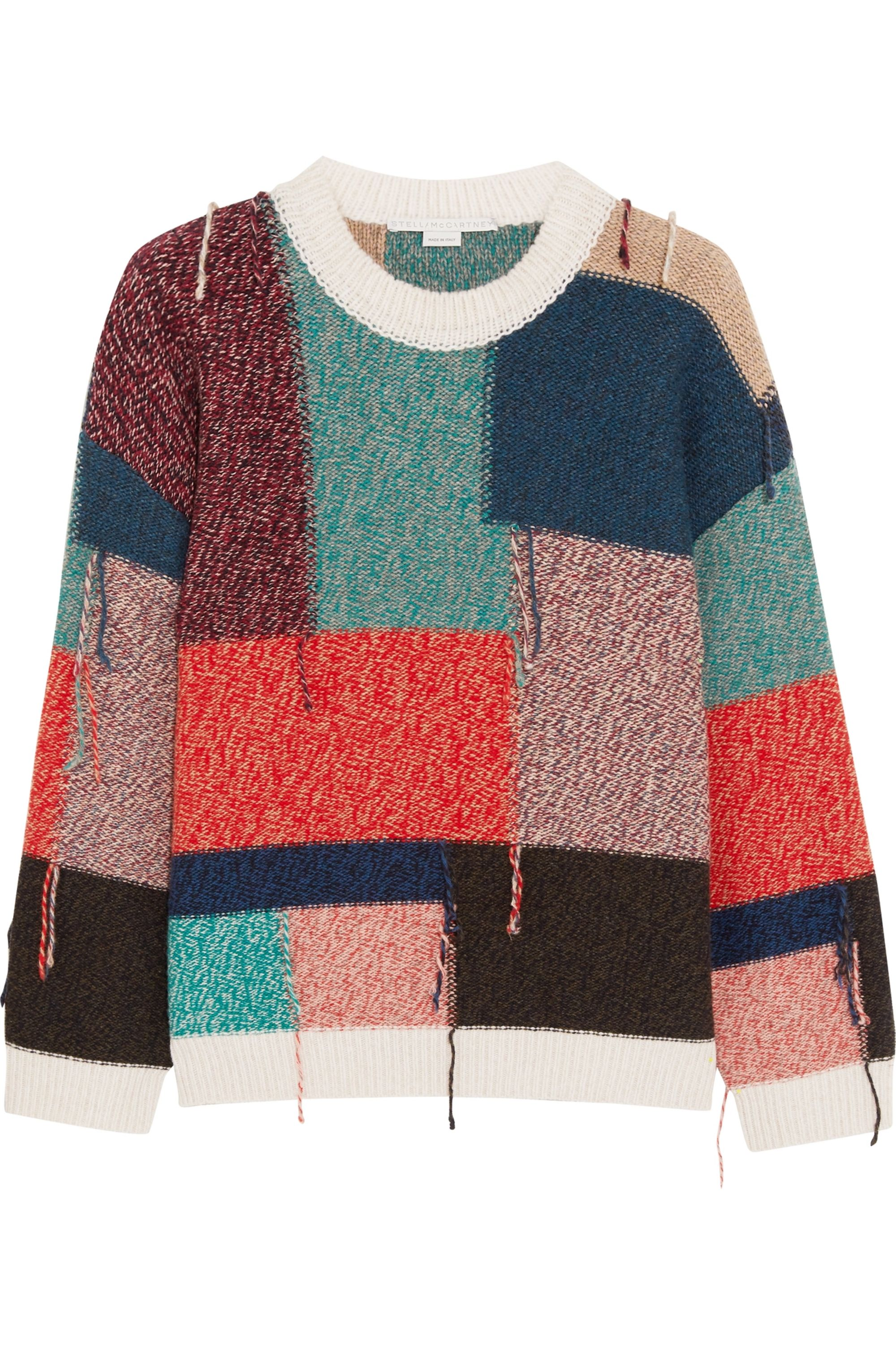 Stella McCartney Oversized patchwork wool sweater