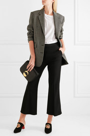 Angela cropped wool-blend crepe flared pants