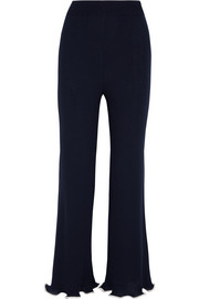 Stella McCartney Ribbed wool flared pants