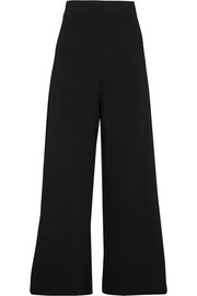 Stella McCartney Stretch-knit wide-leg pants