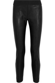 Darcelle faux leather and jersey leggings