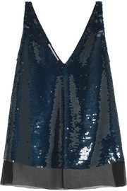 Stella McCartney Sequined silk top
