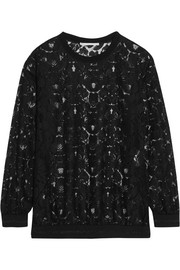 Stella McCartney Ines metallic-trimmed lace sweater