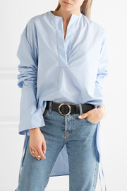 Le Circle leather belt