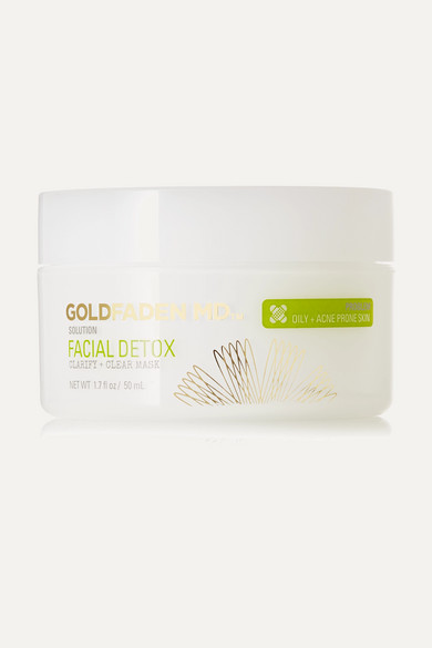 GOLDFADEN MD FACIAL DETOX CLARIFY CLEAR MASK, 50ML - COLORLESS