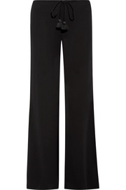 Simone crepe wide-leg pants