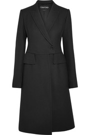 TOM FORD Wool and silk-blend coat