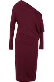 TOM FORD One-shoulder cashmere midi dress