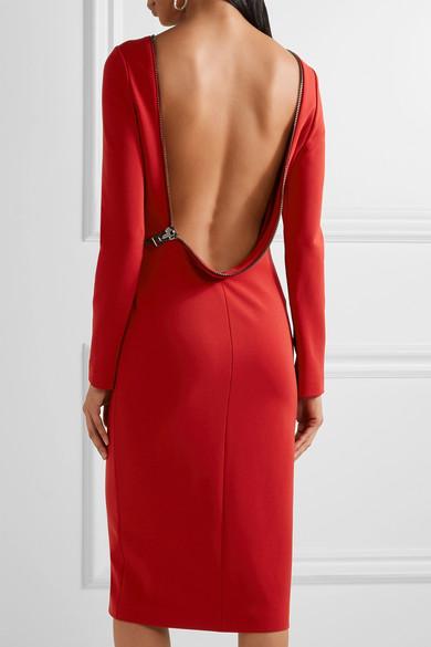 b64a6d78f9988 TOM FORD | Open-back zip-detailed stretch-jersey dress | NET-A ...