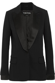 TOM FORD Satin-trimmed cady tuxedo jacket
