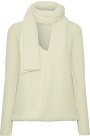 TOM FORD Draped ribbed cashmere sweater