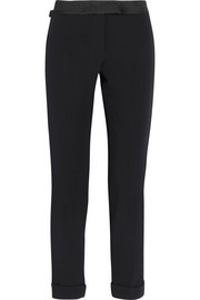 TOM FORD Satin-trimmed cady tuxedo pants