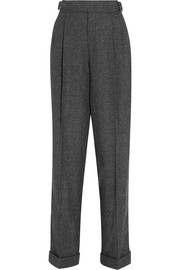 Prince of Wales checked wool, silk and cashmere-blend tapered pants