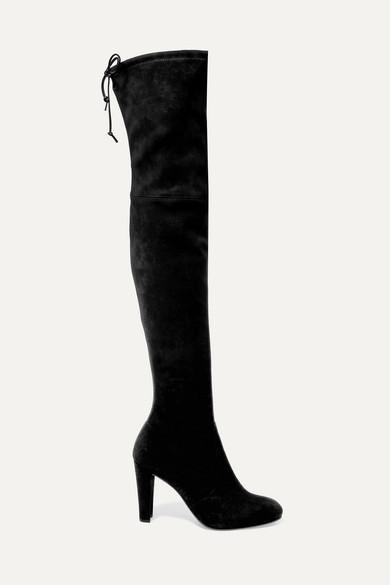 1ddbf13caf8 Stuart Weitzman. Highland stretch-suede over-the-knee boots