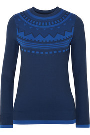 Tory Sport Printed stretch-knit top