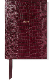 Smythson Soho 2018 croc-effect glossed-leather diary