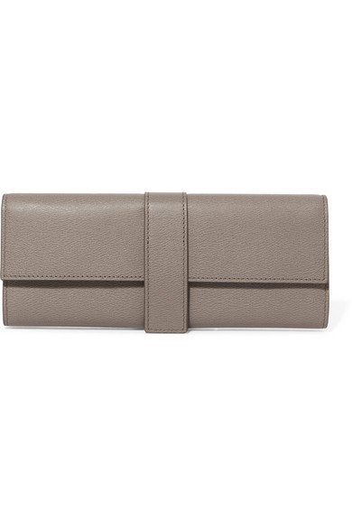 9d45f74beb1f Smythson. Grosvenor textured-leather jewelry roll