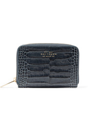 Smythson Mara croc-effect leather wallet