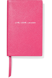 Smythson Panama Live, Laugh, Love  textured-leather notebook
