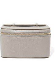 Smythson Panama mini textured-leather jewelry case