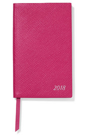 Smythson Panama 2018 textured-leather diary