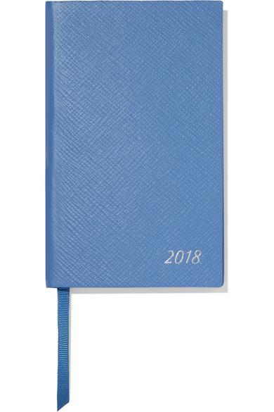 Smythson - Panama 2018 Textured-leather Diary - Blue
