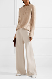 The Row Dina cashmere and silk-blend hooded top