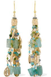 Rosantica Chela gold-tone beaded earrings