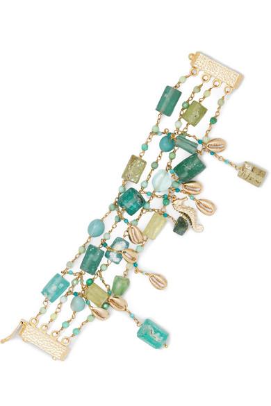 Rosantica - Chela Gold-tone Quartz Bracelet - one size