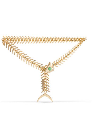 Rosantica - Lisca Gold-tone Quartz Anklet - one size