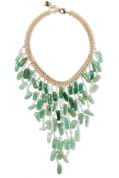 Rosantica - Lisca Beaded Gold-tone Necklace - Green