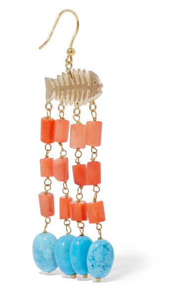 Rosantica Saona Gold-tone Beaded Earrings - Coral JZtdnU1jfD