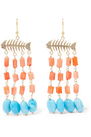 Saona gold-tone beaded earrings