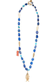 Saona gold-tone multi-stone necklace
