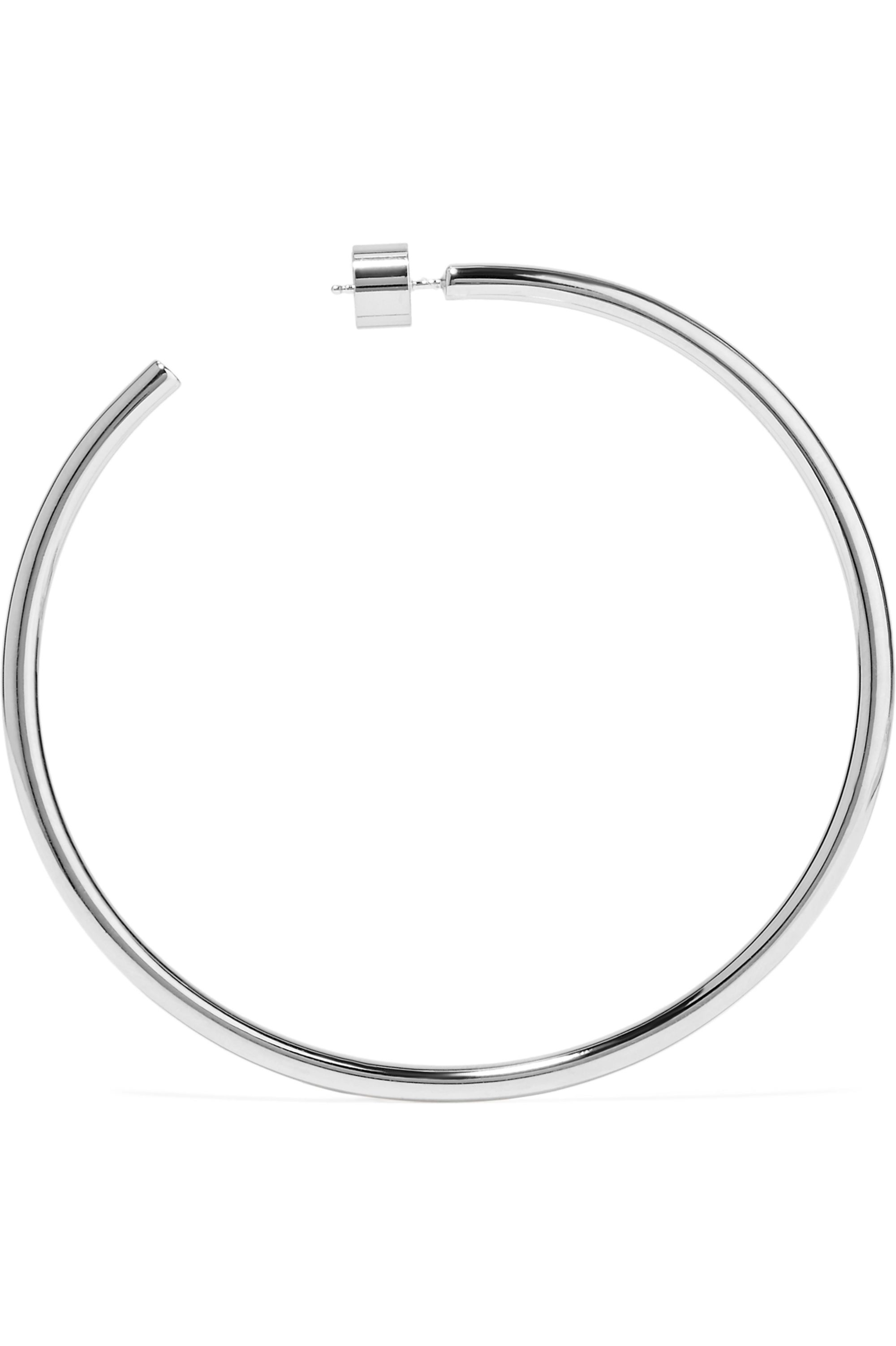 Jennifer Fisher Classic silver-plated hoops