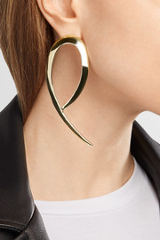 XL Root gold-plated earrings