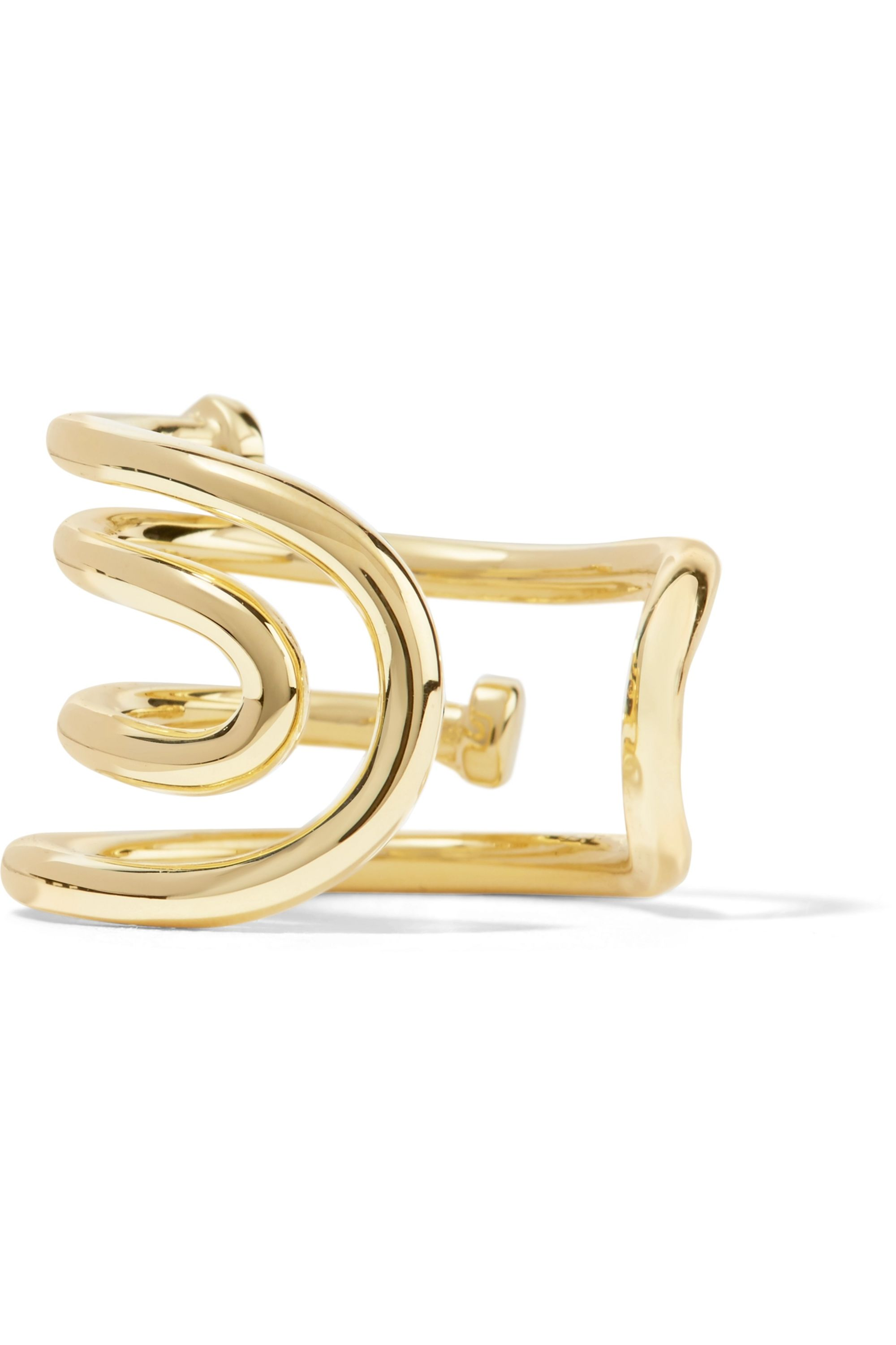 Jennifer Fisher Pipe gold-plated ring
