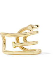 Pipe gold-plated ring